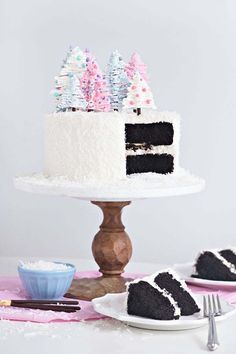 Chocolate Coconut Winter Wonderland Cake  - CountryLiving.com