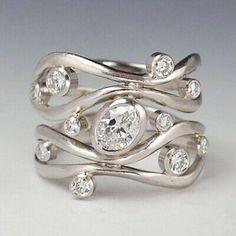 Diamond Rings, Diamond Jewelry, Jewelry Rings, Silver Jewelry, Jewelry Accessories, Fine Jewelry, Jewellery Box, Glass Jewelry, Silver Bracelets