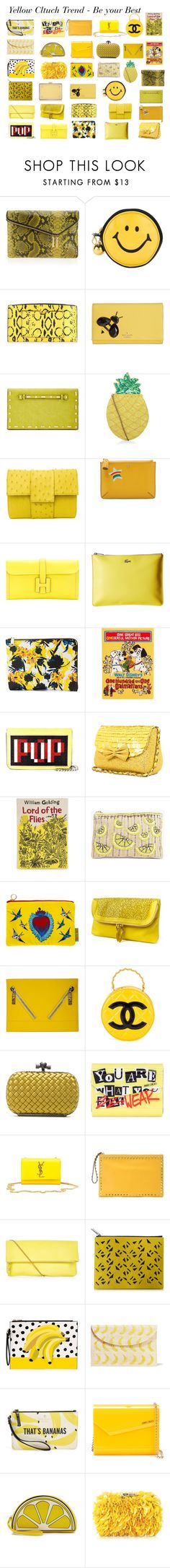 """""""Yellow Clutch Trend"""" by gabriela2105 ❤ liked on Polyvore featuring Henri Bendel, Reed, Kate Spade, INC International Concepts, New Look, Anya Hindmarch, Hermès, Lacoste, Ivanka Trump and Olympia Le-Tan"""