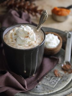 Pumpkin Hazelnut Hot Chocolate (1) From: Running To The Kitchen, please visit