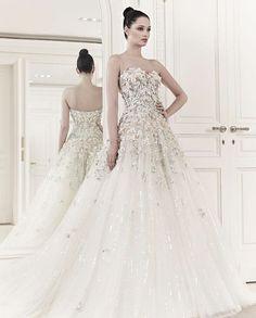 Zuhair Murad Wedding Dresses with Stunning Lace Details - MODwedding