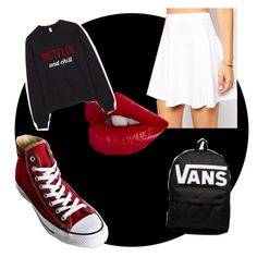 """""""Untitled #64"""" by chicgoth on Polyvore featuring Converse, ASOS, Vans, women's clothing, women, female, woman, misses and juniors"""