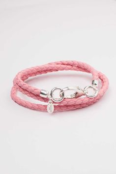 Rose Pink Nappa Leather Bracelet. Made to Order. Different Colors available. www.talulahlee.com #nappaleather #leatherbracelet