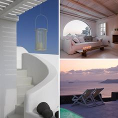 AENAON VILLAS SANTORINI, CYCLADES ISLANDS, GREECE  This is so special – well away from the crowds that, sadly, most other luxury hotels suffer from, here you can sit in silence overlooking the Caldera (tried and tested for the past 5 years) – Sleek designer dens cling to the rocks overlooking the Aegean Sea in tonal white-washed minimalism and handcrafted originality that sits between Imerovigli and Oia.