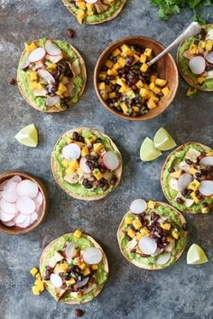 Grilled Tuna Tostadas with Black Bean-Mango Salsa
