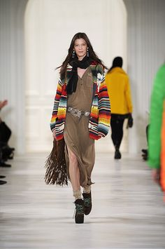 Polo for women: Fall 2014  The runway debut of Ralph Lauren's Polocollection for women, where bohemian southwest meets downtown cool...