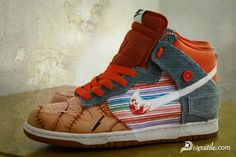 The Diversitile Custom Clothing crew out of Florida starts off 2011 with a solid paint and fabric combo custom sneaker with these highly detailed Nike Dunks. If you could not tell by the distinct features these custom Nike Dunks are based off the former Good Guys Doll named Chucky from the movie Child's Play. The original movie debuted in 1988 with a doll, placed under a voodoo spell by a serial killer whose soul brought the toy to life for 5 different movies. Wrecking havoc in the in the…