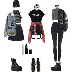 Goth-Grunge Outfits (requested)
