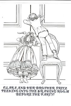 Clara and Fritz Nutcracker coloring pages