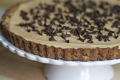 peanut butter chocolate pie with pretzel crust!!  chocolate and peanut butter together is my favorite kind of dessert! a pretzel crust. yum-o