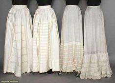 Four Cotton Petticoats, 19th C, Augusta Auctions, April 9, 2014 - NYC, Lot 59