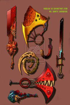 Shattered Fantasy Weapons by Vaxillus.deviantart.com on @deviantART