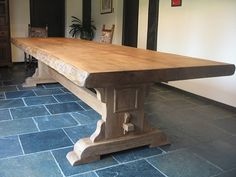 Waney Edge dining table by RusticOak on Etsy, £1800.00