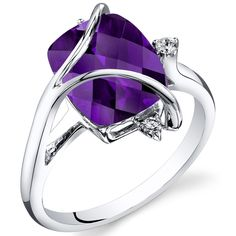 Peora.com - Amethyst Diamond Ring 14Kt White Gold 3.5 Cts R62128, $369.99 (http://www.peora.com/amethyst-diamond-ring-14kt-white-gold-3-5-cts-r62128/)