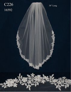 Venise lace edge fingertip length wedding veil affordable elegance bridal wedding hairdo neat lower bun with curls accentuated with a hair brooch adds a touch of elegance x Wedding Trends, Trendy Wedding, Perfect Wedding, Dream Wedding, Wedding Day, Wedding Styles, Wedding Veils, Bridal Veils, Bridal Comb