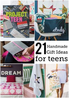 21 Handmade gift ideas for teens in the Project Teen book by Melissa Mortenson. Polka Dot Chair Book, Gift ideas for teens and tweens, sewing