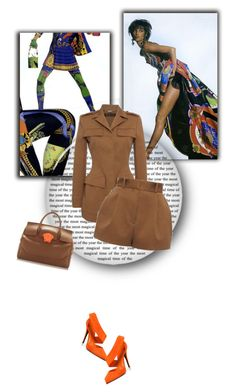 """back to the 80s"" by fl4u ❤ liked on Polyvore featuring Versace, Narciso Rodriguez, 80s, camel, falltrends and gianniversace"