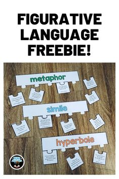 Help your students master figurative language with this fun and interactive activity. Middle School Ela, Middle School English, High School, Special Education Teacher, Teacher Blogs, School Teacher, Teacher Resources, Teaching Ideas, Language School