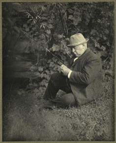 If there's one thing you should know about Grover Cleveland, its that he's the only President of the United States who was elected to non-consecutive terms (making him the 22nd and the 24th President).    And if there's one other thing you should know its that this is a photo of him fishing under a tree.