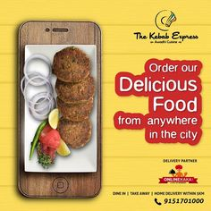 Ordering food online was never so easy ! Want to eat delicious or ? Or maybe you are vying for a ! Just go on to OnlineKaka's website and select from our wide variety of and dishes. Kebab Express, Standing Banner Design, Food Marketing, Food Poster Design, Restaurant Menu Design, Order Food Online, Biryani, Food Illustrations, Creative Food