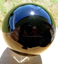 BLACK CRYSTAL BALL WITH STAND 80 mm Wicca Witch Pagan Goth DIVINATION SCRYING
