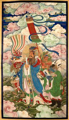 King Sagara ca. 1740.  Chinese, Qing dynasty, Qianlong period 1736–1795.  [VMFA]