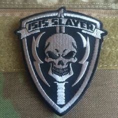 Isis slayer patch silver