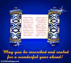 37 best feasts yom kippur images on pinterest judaism rosh free online inscribed and sealed ecards on yom kippur m4hsunfo