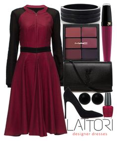 """Friday Fashion"" by j-n-a ❤ liked on Polyvore featuring Lancôme, Oasis, Lattori, OPI, Yves Saint Laurent, Gianvito Rossi, Bridge Jewelry and lattori"