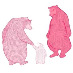 $48 LARGE limited edition print - Magic Blossom Bears by zukzuk on Etsy