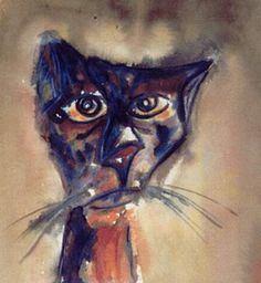 The cat who said goodbye at the station, watercolour, Lucia Tripepi.