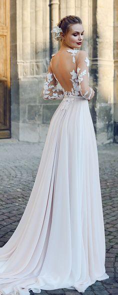 3e4980a1dbeaf A-line backless wedding dress FILISI with long train by Ange Etoiles •  Backless wedding