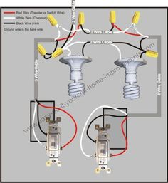 How To Wire Two Light Switches With 2 Lights With One Power Supply