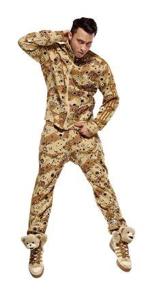 Adidas Jeremy Scott Crystals Track Suit Jacket sweat Top Pants ObyO Firebird  S 755021657