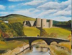"David Lowe original oil on canvas, Rhuddlan castle *no reserve* 16""x 20"""