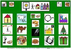 """""""Tablero de comunicación: Reyes Magos"""". Recopilación de diferentes tableros de comunicación de 12 casillas, organizados por necesidades básicas y centros de interés. Los tableros pueden imprimirse tal como aparecen en los documentos o bien se puede modificar el contenido, la forma, el color, etc., para adaptarlos a las características individuales de cada usuario. Pueden utilizarse también para trabajar distintos repertorios de vocabulario agrupado por temas o categorías."""