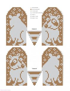 Graph Only.easy enough to figure out Knitted Mittens Pattern, Knit Mittens, Knitted Gloves, Knitting Socks, Hand Knitting, Knitting Charts, Knitting Stitches, Knitting Patterns, Wrist Warmers