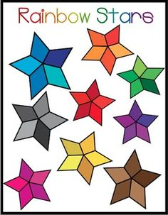This freebie has 9 stars in various colors! You can use them commercially or for personal use with a link to my store! :)