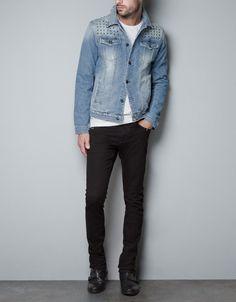 Zara Studded Jean Jacket