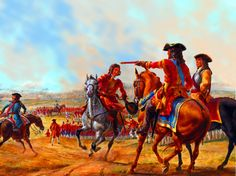 Duke of Marlborough and Prince Eugene of Savoy at the Battle of Blenheim, War of the Spanish Succession Battle Of Blenheim, Spain History, Spanish War, Alfred The Great, Independence War, British Uniforms, Seven Years' War, Louis Xiv, American War