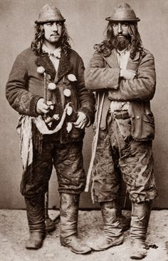 "Kalderash men. 1865. A photo from J.Ficowsky's book ""Gypsies in Poland""."