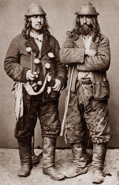 "Kalderash men. 1865. A photo from J.Ficowsky's book ""Gypsies in Poland""."