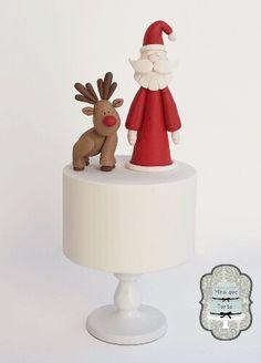 Santa & Rudolf cake by @miraquetarta