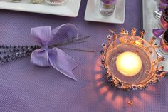 Al Baba Sweets Lavender themed reception #lavender #candle #sunset