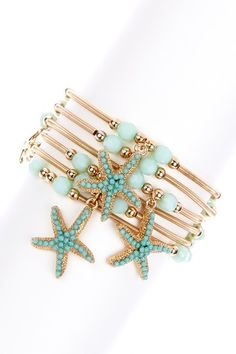 Starfish Bracelet Set by Olivia Welles on @HauteLook