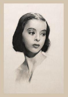 charcoal, portrait.