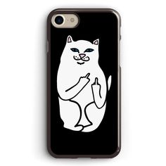 Ripndip White Cat with Middle Finger