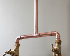 Copper pipe Shower and flexible hose Copper Pipe Taps, Brass Tap, Copper Shower Head, Wall Mounted Taps, Mixer Shower, British Standards, Water Tap, Hand Held Shower, Home