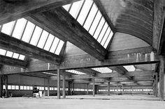 Techo de la imprenta Mame, en Tours (Francia), construida por Jean Prouvé en 1950