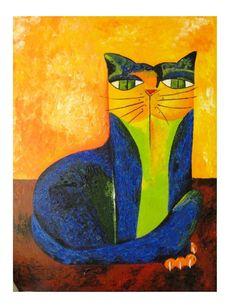 quadro-pintura-em-tela-gato-azul-aldemir-martins-D_NQ_NP_17931-MLB20147459071_082014-F.jpg (876×1144)